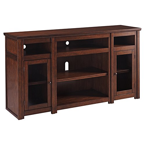 Ashley Furniture Signature Design - Lavidor 62 inch TV Stand - Traditional Style with Concealed Media Storage - -