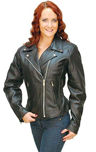 382159040227fc new Jamin  Leather Road Angel - Ladies Black Leather Motorcycle Jacket   L265Z