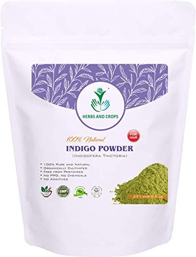 Naturale Powder - Herbs And Crops 100% Pure Natural Organically Grown Indigo Powder- For HAIR (227g / (1/2 lb) / 8 ounces)
