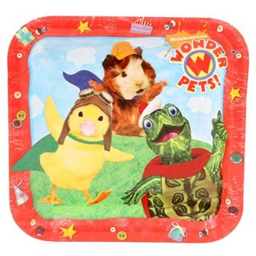 Wonder Pets Halloween Costume (Wonder Pets Large Paper Plates (8ct))