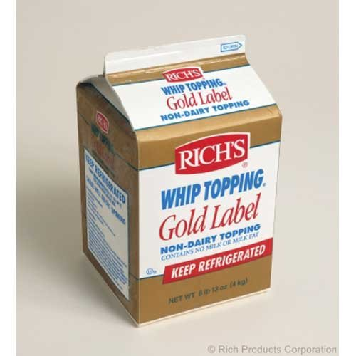 Rich Gold Label Non Dairy Whip Topping, 8.8 Pound -- 4 per case.