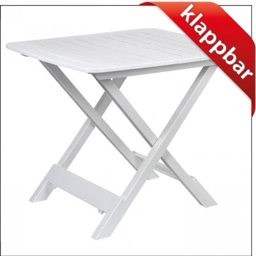 Mesa de camping Mesa auxiliar 43x45x50cm blanco plegable Plástico ...