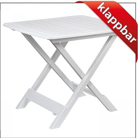 Mesa de camping Mesa auxiliar 43x45x50cm blanco plegable ...