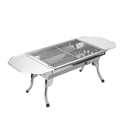 Grills Out Grills Portable Barbecue Grill Camping Outdoor Stainless Steel Charcoal Barbecue Folding Legs a for Camping Garden BBQ Grill by HomJo