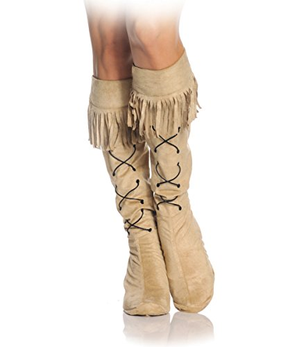 Women's Frontier Girl Boot Top Covers (One Size) (Wild West Saloon Girl Costume)