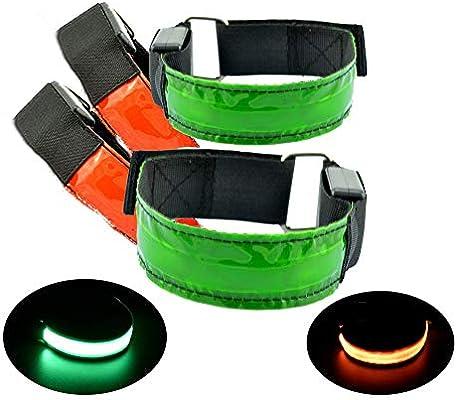 1x Pack Bike Bicycle Reflective Safety Pant Band Running Leg Strap Belt CE