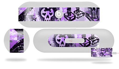 Scene Kid Sketches Purple Decal Style Skin - fits Beats Pill Plus (BEATS PILL NOT INCLUDED) by WraptorSkinz