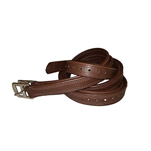 (Pro-Trainer Lined Stirrup Leathers Nylon lined, non stretch stirrup leathers. Half Hole. Color Oak Size: 3/4)