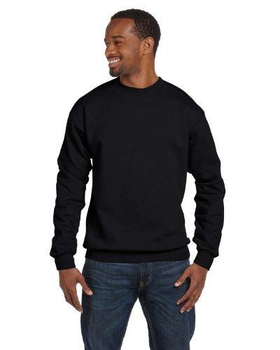 Hanes 7.8 oz. ComfortBlend EcoSmart 50/50 Fleece Crew, 3XL, BLACK