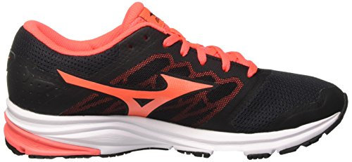Multicolore de Running Synchro Mizuno W Black MD Femme Chaussures Fierycoral wqv6UnS0