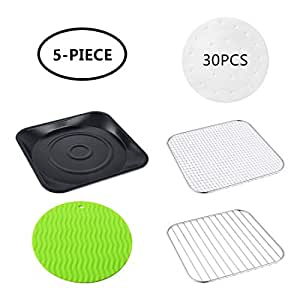 Amazon.com: Air Fryer Accessories 9.3 Inch, Set of 5