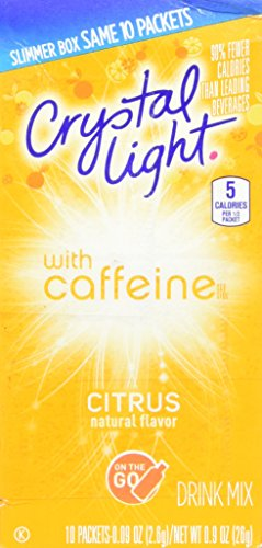 Go Citrus Caffeine, 10 Packets (Pack of 4) (Citrus Crystal)