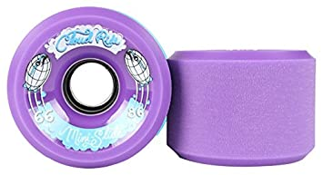 Set of 4 Slide Mini 66mm 86a Purple Skateboard Wheels Cloud Ride
