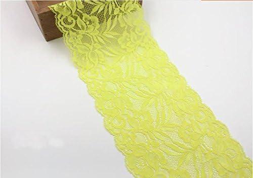 Elastic Trims 5 Meters Black Stretchy Lace Trim Ribbon Fabric Bra Underwear Dress Clothing Sewing 14cm 5.5 Wide M34F15