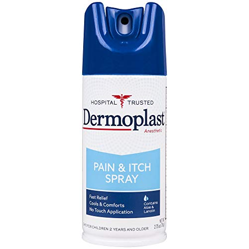 Dermoplast Hospital Strength Pain Relieving Spray for Minor Cuts, Scrapes, Insect Bites, Blisters, Sunburn & Skin Irritations, 2.75 Ounce Can, 20% Benzocaine & 0.05% Menthol (Packaging May Vary)