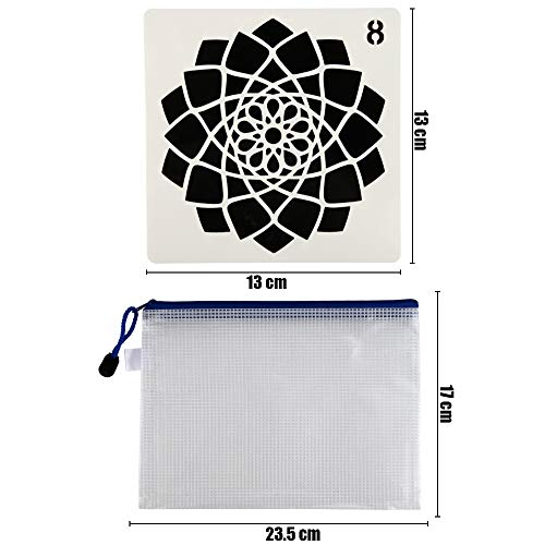 28 Pack Mandala Dot Painting Templates Stencils for DIY