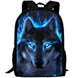 Travel Backpack Laptop Backpack Large Diaper Bag - Silver Wolf Backpack School Backpack For Women Men