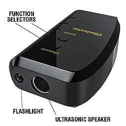 Eliminator Electronic Dog Repellent and Trainer with LED Flashlight / Stops Barking + Trains for Good Behavior / Ultrasonic Dog Deterrent [UPGRADED VERSION]