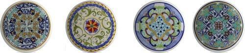 Round Talavera Design Ceramic Knobs Pulls Kitchen Drawer Cabinet Dresser 1206