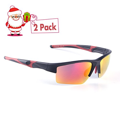 M-Better Women Men's Sports Style Sunglasses for Cycling Running Fishing Driving Golf, 100% UV Protection Unbreakable, Full Mirror Coating and Nano Anti-fingerprint - Fit Adjusted To Be Can Sunglasses