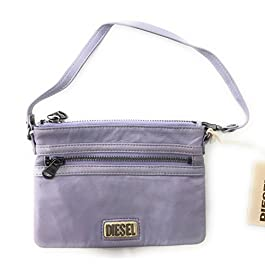 Diesel Jeena Leather Evening Bag, Clutch Made of 100% Quality Sheep Leather, Wallet, Key Case, Key Bag, Purse, Taschenorganizer, Purple/Violet, 13, 5×17, 5 ( Hxw )