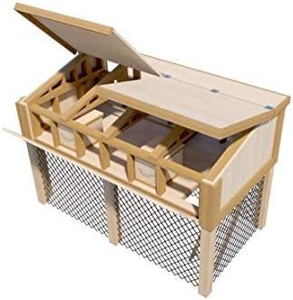 The Best DIY Plans Store Planes de gallinero portátil con caseta ...
