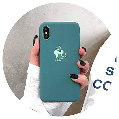 Cartoon Cute Little Dinosaur Phone Case for iPhone X XR XS MAX Capa Couples Soft TPU Cover for iPhone 6 6s 6plus 7 8 Plus,L205318,for iPhone XSMAX