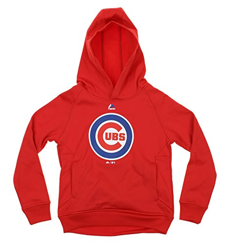 Majestic MLB Youth Boys Team Fleece Performance Hoodie, Chicago Cubs X-Large (18-20) ()