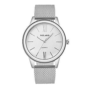 Women's Man's Casual Quartz Watch,veyikdg Lady Unisex Luxury Leather Band New Strap Watch Analog Wrist Watch Couple…