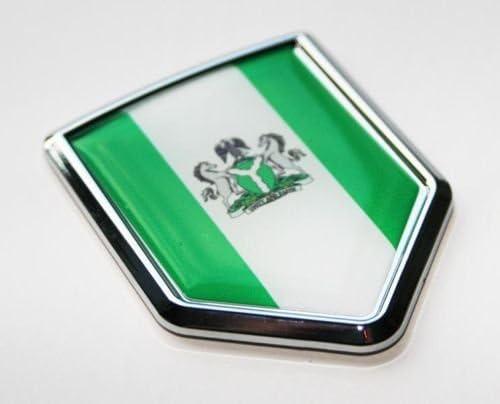 Nigerian Flag Decal Car Chrome Emblem Sticker Nigeria