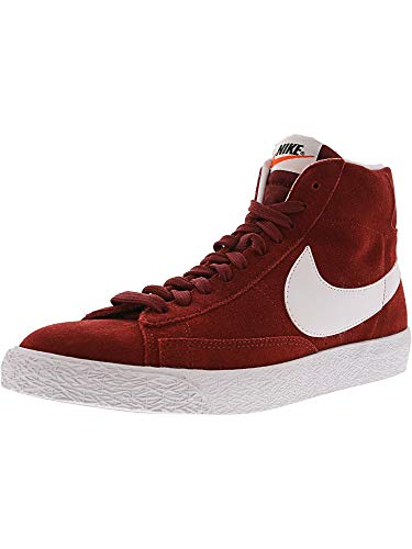 Nike Men's Blazer Mid Prm Team Red/White/Gum Light Brown Casual Shoe 10 Men US