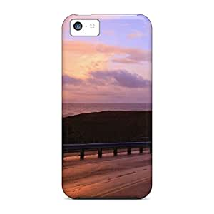 Evu15641UyEi Snap On Cases Covers Skin For Iphone 5c(lighthouse At The End Of Oregon Highway)