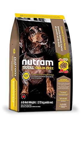 nutram T27 Total Grain-Free ® Chicken & Turkey Dog Food Receta olistica con carne