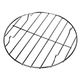 LOVIVER Cooking Grate, Stainless Steel Round Cooking Grid, Nonstick Metal Grilling BBQ Mesh for Chicken Fish Food, Also can be Used as a Baking Cooling Rack - Silver, 20cm
