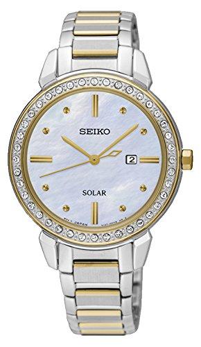 Seiko Reloj Analógico para Mujer de Energía Solar con Correa en Acero Inoxidable SUT328P1: Seiko: Amazon.es: Relojes