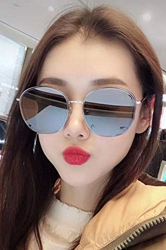 Pol Gray Sunglasses - Korea Dress up Brand Fashion Sunglasses pol Big Box Retro Round face Sunglasses Driving car (Grandmother Gray (pol) transmitting Original pac