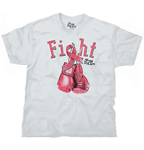Fight For A Cure Breast Cancer Awareness Womens Clothes Gift T Shirt Tee