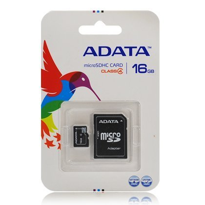 16GB microSDHC Class 4 Memory Card with Adapter microSD Series ADATA ()