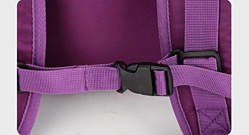 Bolso de la momia del hombro, bolso maternal multi-funcional del bebé de la gran capacidad, morral de la madre del bebé de la manera ( Color : Purple ) Azul