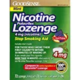 GoodSense Nicotine Polacrilex Lozenge 4mg 72ct *Compare to Nicorette Lozenge* Stop Smoking Aid