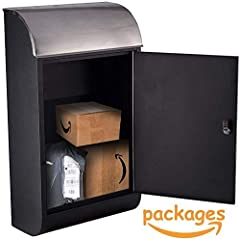 Peelco huge giant big jumbo extra large modern porch locker for packages parcel envelopes letters secure ups usps fedex freestanding office business workplace home house patio storage lawn garden decor outside outdoors residential contemporar...