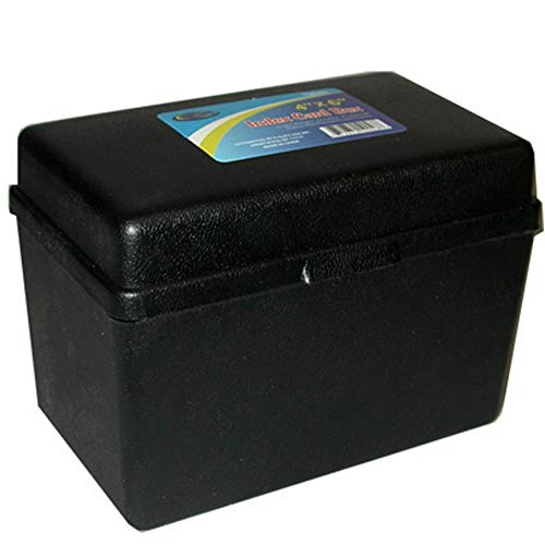 ECLIPS Index Card Box, 4''x 6'', Assorted Colors, Case Pack of 36, Ideal for Bulk Buyers by AUKSales