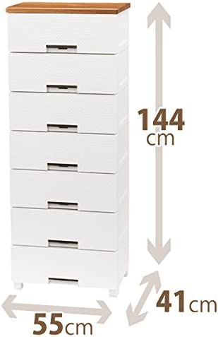フィッツプラス メッシュ FM5507 ホワイト 55X41X144cm