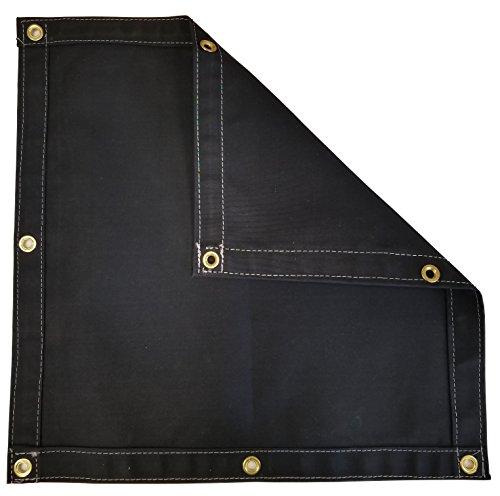 Black Workhorse Polyester Canvas Tarp 4 Ft. x 5 Ft. - 14.5 Oz. by TarpsDirect
