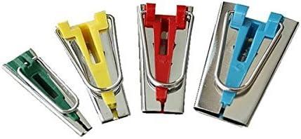 Winomo un set di 4/dimensioni tessuto nastro Bias responsabili associazione strumenti per cucire trapunte 6/mm 12/mm 18/mm 25/mm