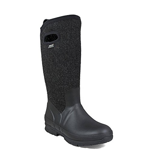 Bogs Womens Crandall Wool Rain Boot Black Size 6