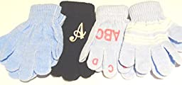 Four Pairs Magic Gloves for Infants Ages 1- 4 Years One with Monogram