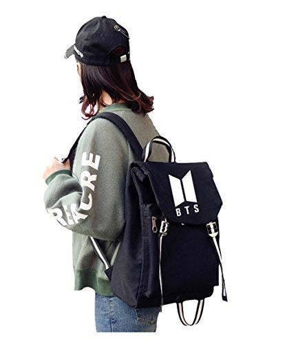 Kpop Schoolbag Backpack For Bangtan Boys Bts Album Fans Bag (black)
