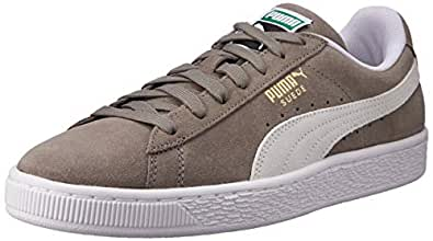 PUMA Adult's SUEDE CLASSIC+ Trainers, Grey (Steeple Gray-White)