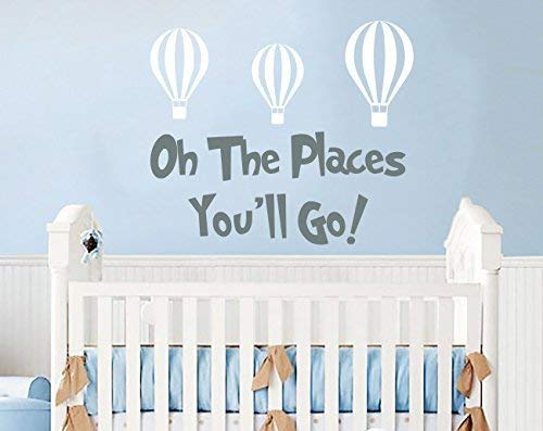 Amazon Com Dr Seuss Quotes Wall Decals Oh The Places You Ll